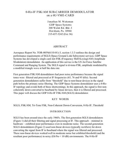 Browsing International Telemetering Conference Proceedings, Volume
